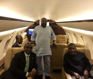 , Segun Awolowo and Aliko Dangote pictured on a Private Jet, Effiezy - Top Nigerian News & Entertainment Website
