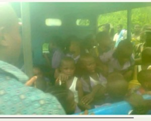 Bus conveying students to school somersaults, in Imo State