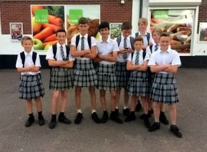 'Boys in skirts' vow to continue protest until school changes rule