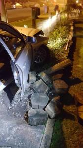 Female driver, 22, charged following early morning police chase where she 'crashed a stolen car into a garden bed and fled police on foot'