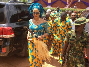 Bianca Ojukwu storms funeral in style