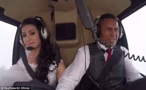 Heartbreaking: Watch the moment a bride died in helicopter crash on her way to her wedding (Video)