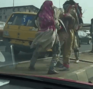 Two masquerades fight in Lagos (Video)