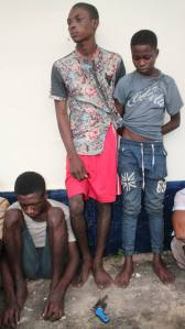 14-year-old cultist, others nabbed with gun and charms in Abia State. (Photos)
