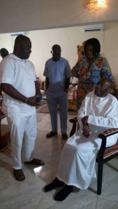 Arthur Nzeribe pictured at Gerald Irona's 51st birthday years after death rumors