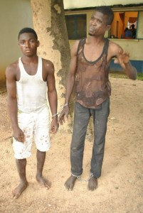 Ritualist with victim's head in Niger State arrested by police. (Graphic Photos)