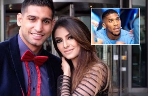 """You can have my """"leftover"""" – Boxer, Amir Khan accuses Anthony Joshua of sleeping with his wife"""