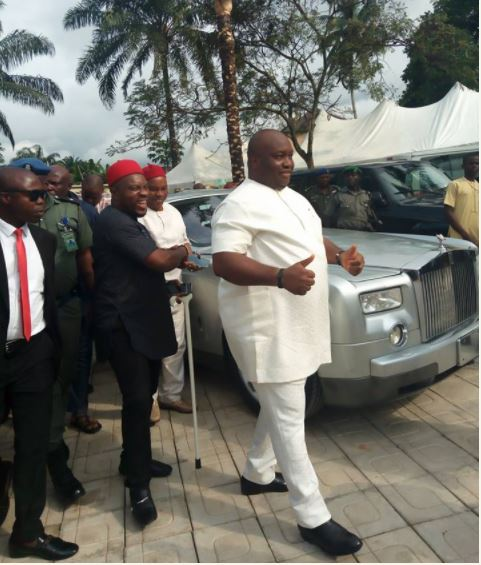 , Oil Mogul, Ifeanyi Ubah spotted with his Rolls Royce at a wedding event (Photos), Effiezy - Top Nigerian News & Entertainment Website