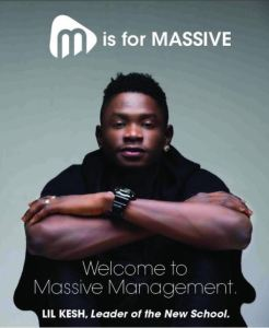Lil Kesh joins Massive Management after leaving Olamide's YBNL (Photo)