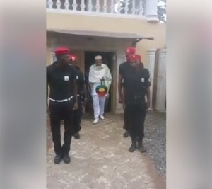 IPOB leader, Nnamdi Kanu inspects newly inaugurated Biafra secret service (Photos+Video)
