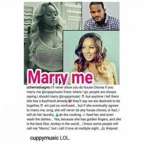 , Actor Uche Maduagwu propose marriage to DJ Cuppy and you won't believe what she replied, Effiezy - Top Nigerian News & Entertainment Website
