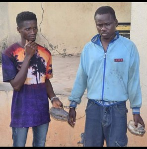 2 men with 2 human wrists arrested by Ogun State Police (Photo)