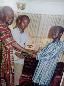 , Adams Oshiomhole receiving award from Philip Shaibu (Throwback Photo), Effiezy - Top Nigerian News & Entertainment Website