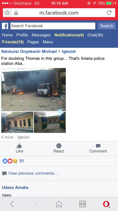 , Pictures of the burnt Ariaria police station by Ipob youths, Effiezy - Top Nigerian News & Entertainment Website