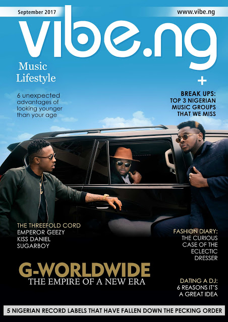 , Kiss Daniel, Sugarboy and Emperor Geezy all slay on the latest issue of Vibe.ng magazine, Effiezy - Top Nigerian News & Entertainment Website