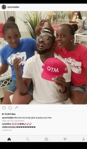 AY Makun and his two daughters pictured together