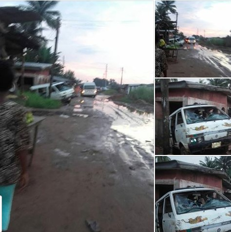 , Bus rams into a building in Benin after being shot at by NSCDC officials. (Photos), Effiezy - Top Nigerian News & Entertainment Website