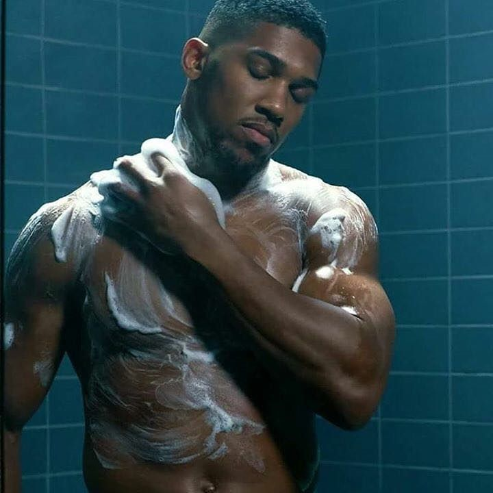 , Anthony Joshua bathing for fragrance lynx (Photos), Effiezy - Top Nigerian News & Entertainment Website