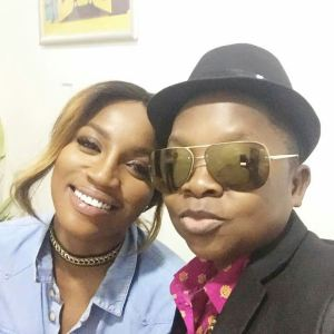 Chinedu Ikedieze spotted in the studio with Sheyi Shey and Vector [Photos]