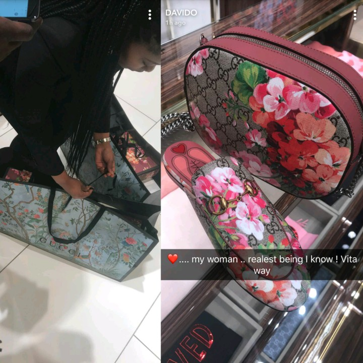 , Davido takes his woman shopping at a Gucci store (Photos), Effiezy - Top Nigerian News & Entertainment Website