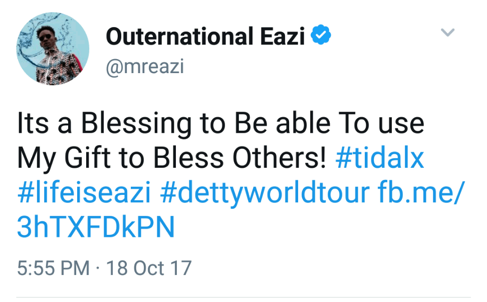 ", Fans Slam Mr Eazi After He Claimed To ""Be A Blessing To Others"", Effiezy - Top Nigerian News & Entertainment Website"