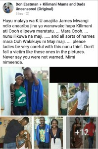 Kenyan Man Parades All The Ladies He Has Slept With (Photos)