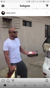Nollywood actor Charles Okocha buys a new car, celebrates in a hilarious way (Video)