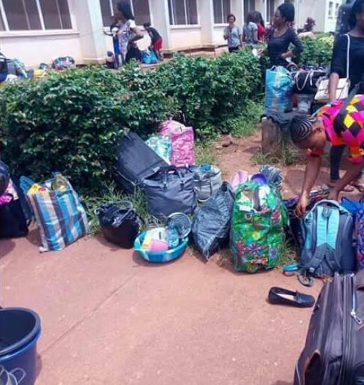 , UNN Students Thrown Out Of The Hostel In Enugu (pics), Effiezy - Top Nigerian News & Entertainment Website