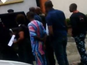 Atiku Abubakar's son and ex-wife caused a scene at Parkview Estate yesterday