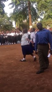 Isn't this dance inappropriate for secondary school students? (Video)