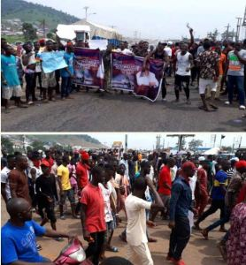 Kogi Youths Protest Against Rice Donations By Senators (Photos)