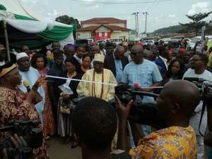 Ayo Fayose commissions a road named after him in Ekiti (Photos)