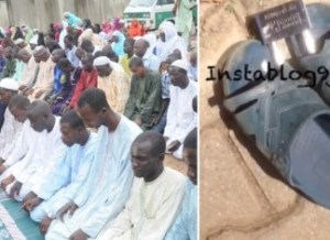 Worshipper Padlocks his pair of rubber slippers at a mosque in Abuja (Photo & Video)