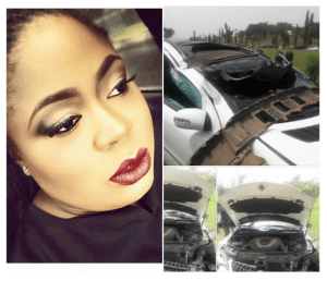 FRSC officials allegedly chases OAP Matilda Duncan into crashing her car [PHOTOS]
