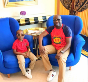 Son of Millionaire Mompha Poses With Bundles of Foreign Currencies (Photos)