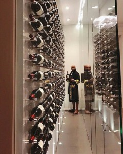 Floyd Mayweather flaunts his wine collection in his Beverly Hills Mansion