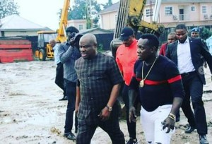 Governor Wike and Duncan Mighty inspects some projects in Rivers State (Photos)