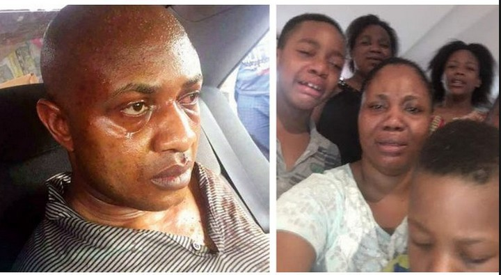 , Crying Photo Of Kidnapper Evans Wife And Kids Used At The FEC Retreat In Abuja (Photos), Effiezy - Top Nigerian News & Entertainment Website