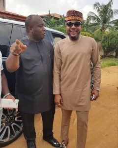 E-Money takes a photo with Ifeanyi Ubah (Photo)