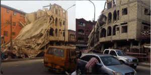3-Storey Building Under Construction Collapses In Lagos (Photos)