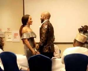 Banky W, Adesua hold secret court wedding (Video)