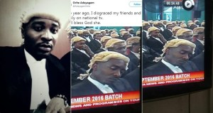 Nigerian lawyer mocks himself for 'disgracing his friends and family on national TV' last year