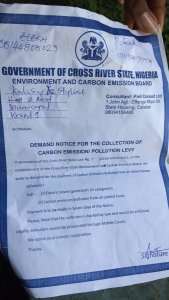 Shock as Cross River State introduces carbon emission/pollution tax for generator owners (Photo)
