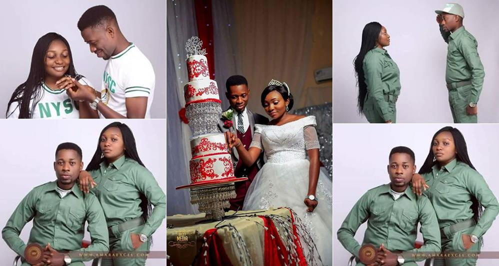 Corp Members Amara Uka And Ajah Anayo Who Are Currently Undergoing Their NYSC Program Tied The Knot On November 18 Years After They Met At Federal