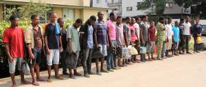 , EFCC docks 6 foreigners, 23 Nigerians for illegal bunkering (Photos), Effiezy - Top Nigerian News & Entertainment Website