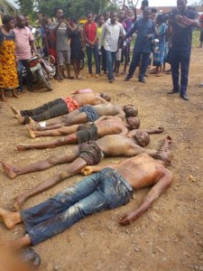Disturbing Photos Of 5 Notorious Kidnappers Killed In Bloody Battle With Policemen In River State