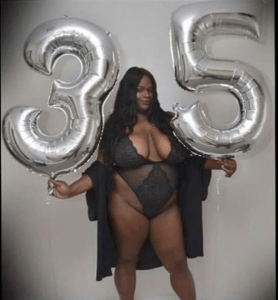 Plus Size Lady Shares Raunchy Lingerie Photo To Celebrate Her 35yrs Birthday