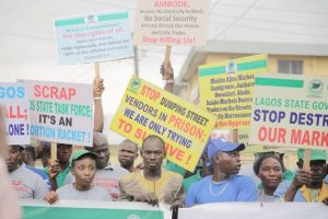 , Lagosians Protest Against Governor Ambode's Anti-People Policies (Photos), Effiezy - Top Nigerian News & Entertainment Website