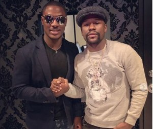 Odion Ighalo Meets Floyd Mayweather In Las Vegas (Photos)