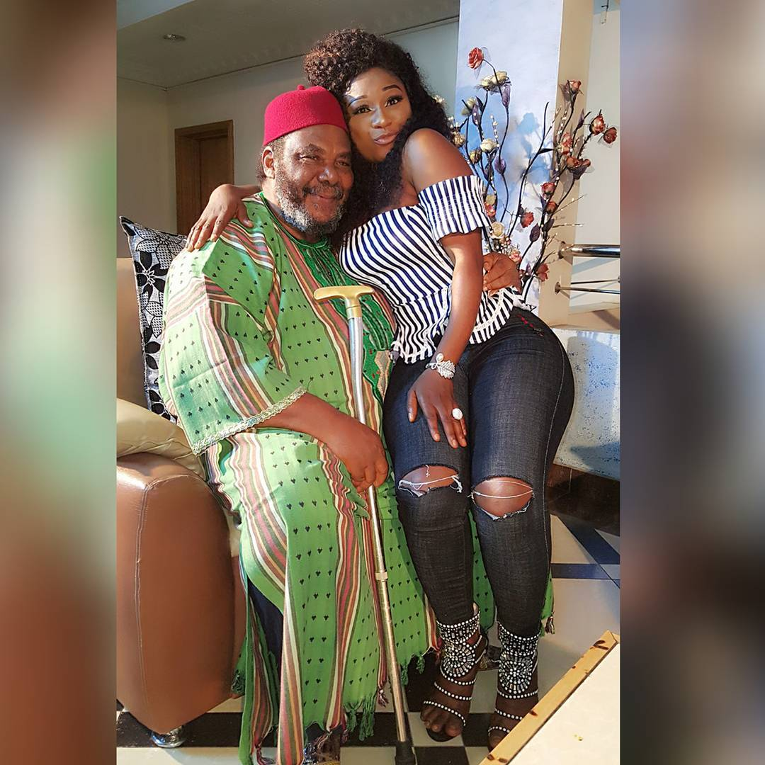 Destiny Etiko Sits On Pete Edochie's Lap; Fans React